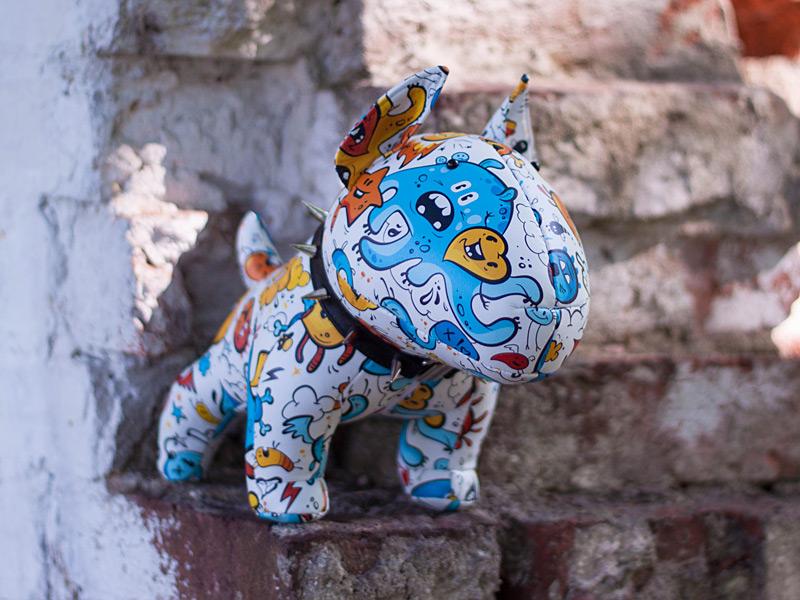 Spooky The Bull Terrier By Stonemask Dribbble - Bull terrier art