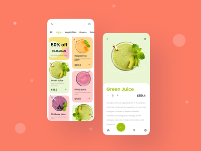 Natural Juice App UI Design mobile ui ashikxql inteface design mobileappdesign mobileapp clean ui app design app ui juice bar natural app