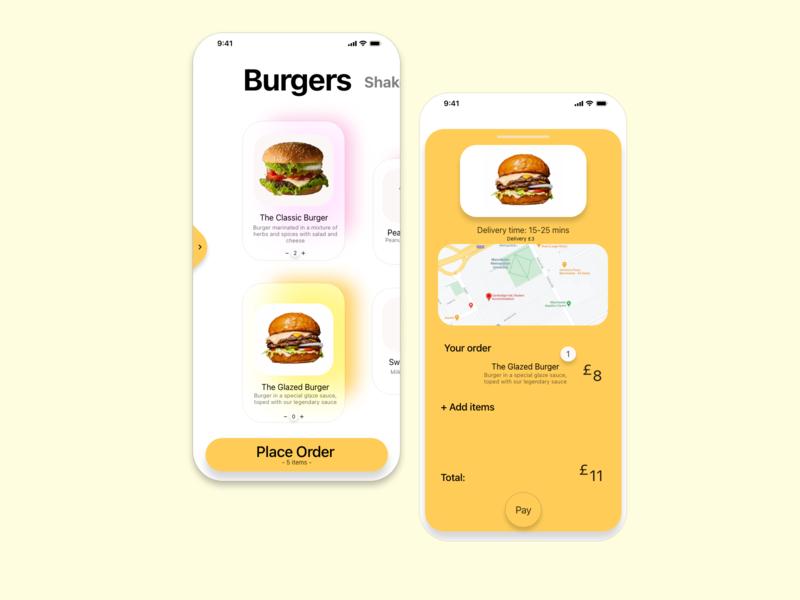 Quick food delivery delivery milkshake fast food burger food design uidesign ui app uiux