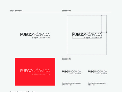 Identity Design for @FuegoNómada logo design branding