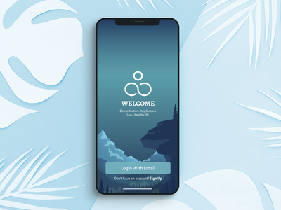 Meditation app ui meditation graphic design ux design