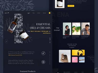 Beauty products landing page simplistic beauty ui ux branding graphic design design