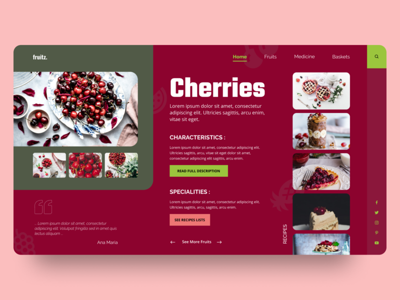 Fruits Blog UI/UX Concept dailyuichallenge daily ui user interface design user experience userinterface uiwork landingpage web uiwebsite uxuidesign ui design ux design design ux uiux ui