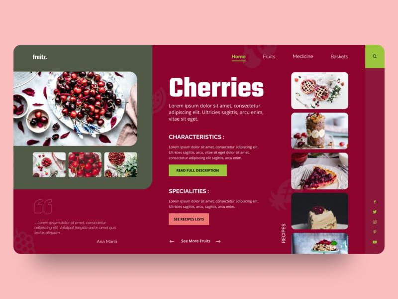 Fruits Blog UI/UX Concept dailyuichallenge daily ui user interface design user experience userinterface uiwork landingpage web uiwebsite uxuidesign ui design ux design design ux uiux ui