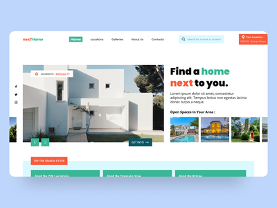 House Rental Service UI/UX Concept userexperience userinterface webdesign website web landing design dailyuichallenge uxui uiwebsite uxuidesign ux design ui ux uiwork design