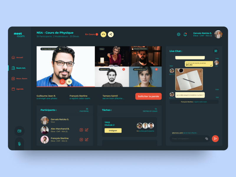 Video Conference Desktop App UI/UX Concept desktop design desktop app uiwebsite design uiwork dailyuichallenge web design ui design ux design uiux ux ui
