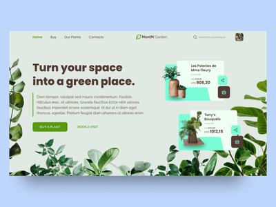 Plant Shop Place Website UI/UX Concept userexperience userinterface uiinspiration uiwebdesign webdesign daily ui uiwork ui design uiwebsite uxuidesign dailyuichallenge ux design ui ux design