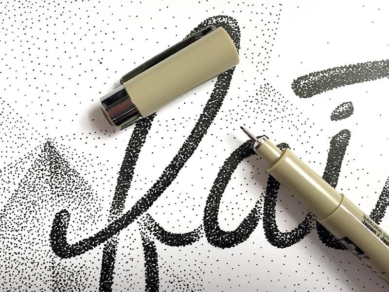 Faithful church paper ink pattern white black stipple pen pointillism dots faith faithful