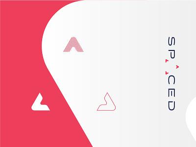 SPACED challenge Logo w/ stylized mark triangle logo design challenge space spaced
