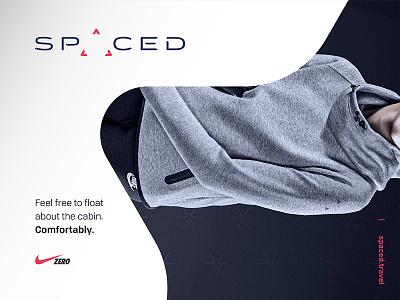 SPACED challenge Logo / Ad / Nike Zero concept concept gravity zero ad nike triangle logo design challenge space spaced