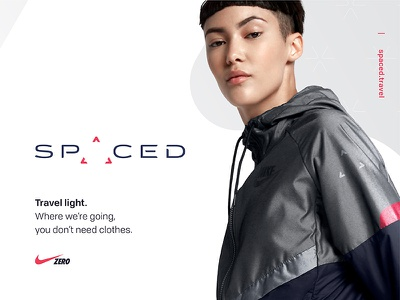 SPACED challenge Logo / Ad / Nike Zero concept light travel gravity zero ad nike triangle logo design challenge space spaced