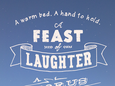 Feast of Laughter script type doodle banner hand drawn