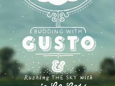 Gusto gusto pen sky doodle hand drawn