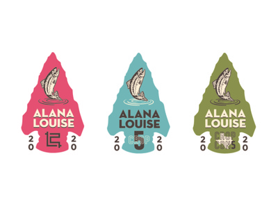 Alana Louise CROP Badges illustrator logo mark logo design logodesign logotype badgedesign badge logo badge illustration