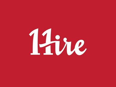 11 HIRE type vector script branding design typography custom lettering logo