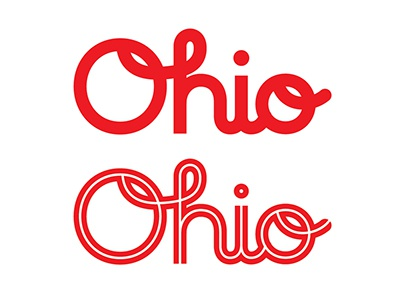 Ohio script lettering type ohio oh