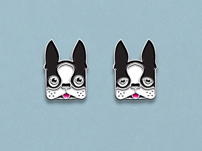 Lapel Pin Mockups dogs dog boston terrier lapel pins lapel pin