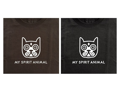 Spirit Animal Tee t-shirt tee animal spirit logo icon head boston terrier dog