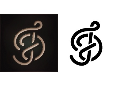 TFD Monogram design lettering logo type script custom