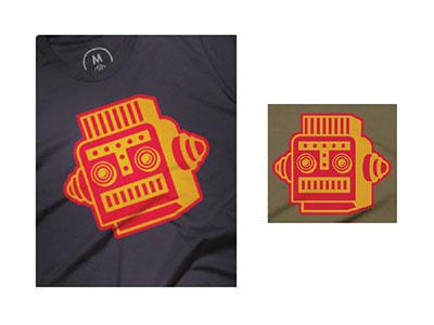 Mr. Roboto  icon robot logo t-shirt tee