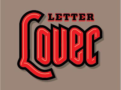 LetterLover lover love custom type lettering script