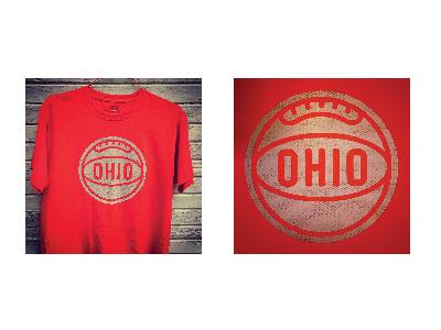 Ohio Tee  pattern distressed t-shirt tee logo type basketball sports ohio