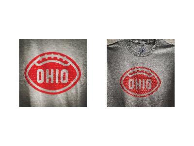 OHIO TEE t-shirt tee logo type lettering football ohio