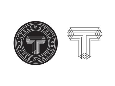 Telemetry Logo coffee design typography lettering momogram badge icon logo