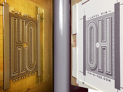 Letterpress Lapel Pin Card ohio packaging lapel pin typography design type lettering letterpress