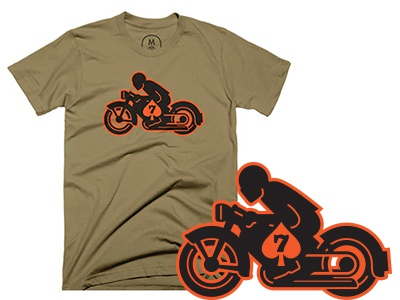Cafe Racer t-shirt tee screenprinting screenprint racer cafe motorcycle bike logo lettering badge apparel