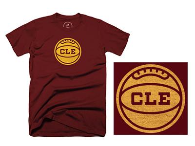 Oldschool Basketball Tee t-shirt tee screenprinting screenprint ohio cleveland basketball logo lettering badge apparel
