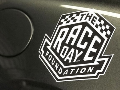Logo for The Raceday Foundation design logo lettering custom auto car racing race