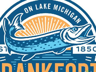 Fish for Logo badge crest illustration icon logo michigan lake fish
