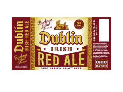 Irish Red Ale typography beverage packaging label brewery ohio beer craft ale red irish dublin