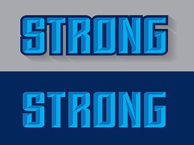 Strong t-shirt design typography lettering custom logo