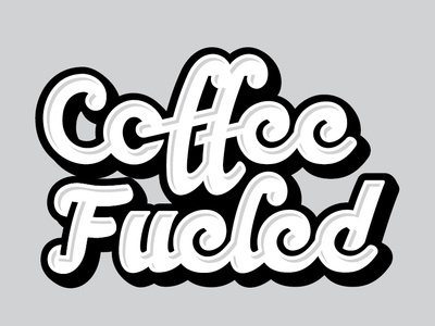 Coffee Fueled custom design lettering type script logo coffee