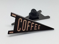 Coffee Pennant Lapel Pin