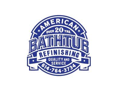 American Bathtub Refinishing logo banner lettering american bathtub remodeling