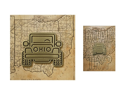 Ohio Jeep Pin bronze golden gold icon logodesign logos logo suv jeepwrangler jeep state ohio ohio state lapel pin lapelpin pin