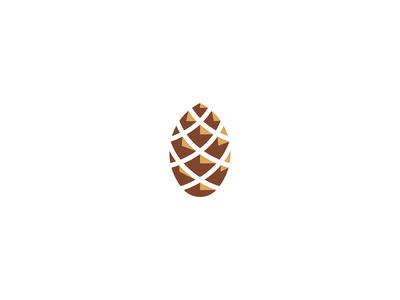 Pinecone identity brand icon mark design branding geometry illustration logo green adventure outdoors nature abstract minimalist evergreen tree