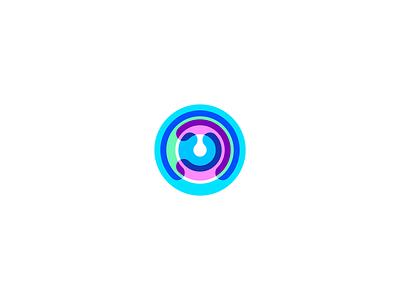 Ripple design minimalist tech colors rain circles droplet drop branding geometry icon mark minimal logo