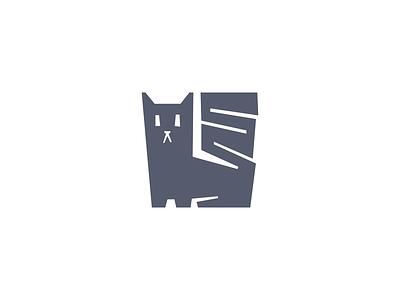 Cat pet paws whiskers fur cat minimalist animal design branding geometry mark minimal logo illustration
