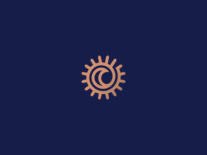 The Sun and The Moon day night the one embrace spiral poem sky moon sun heraldry lineart line design branding geometry illustration mark minimal logo