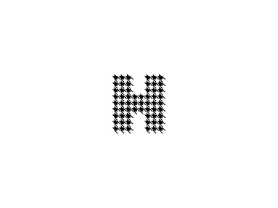 H monogram illustration check houndstooth tailoring letter h letter monogram pattern fashion clothing identity design branding geometry mark minimal logo