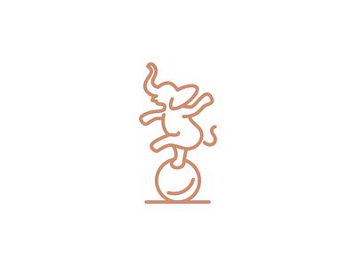 Balance delicate elegance symbol mark illustration design branding geometry minimal logo line active dance animal circus ballet ball elegant