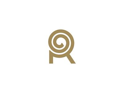 Rolling lettering lineart line branding geometry mark minimal logo monogram lettermark maze twist spiral letter r letter
