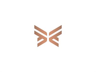 Butterfly visual identity branding illustration geometry icon mark minimal logo luxury elegant modern simple flying insect wings stripes