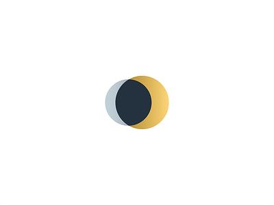 Sun and Moon symbol icon branding geometry mark minimal logo alchemy eclipse star planet cosmos minimalist silver gold space
