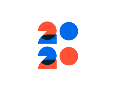 2020 icon mark geometry illustration lettering typeface type typogaphy minimal logo 2020 elections vote year number
