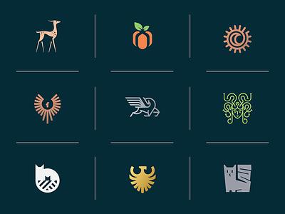 Top 9 of 2o2o brand identity animal line design illustration icon top 9 best branding geometry mark minimal logo collection 2020
